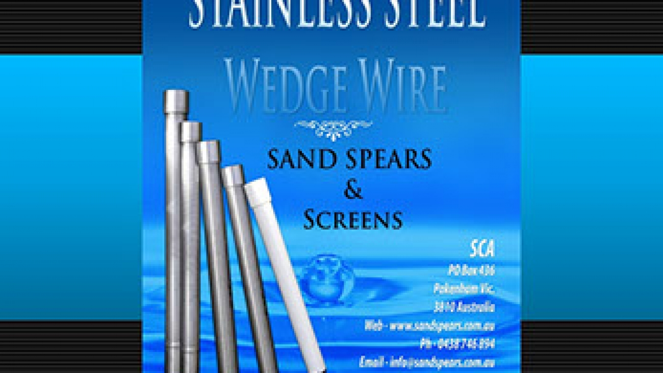 Stainless and PVC Wedge Wire Sand Spears and screens